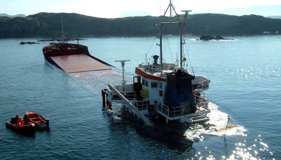Mv Jambo aground at the entrance to Loch Broom about 0730, 29 June 2003. Grounding and loss of the cypriot registered general cargo ship Jambo off Summer Islands, West Coast of Scotland on 29 June 2003.  Report No 27/2003. Published December 2003.